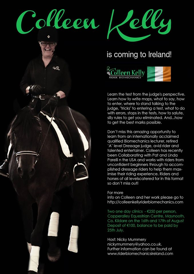 Colleen Kelly Rider Biomechanics coming to Ireland
