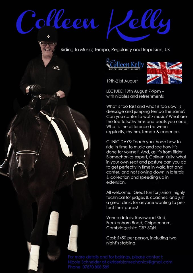 Colleen Kelly Rider Biomechanics in England 2