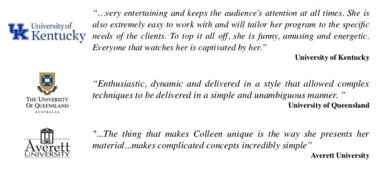 Colleen Kelly Testimonials